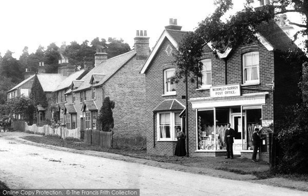Photo of Wormley, Wormley Hill Post Office 1909