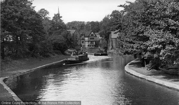 Photo of Worsley, Bridgewater Canal c.1950