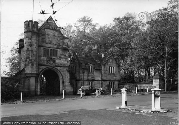 Photo of Worsley, Entrance to Worsley Hall c1950