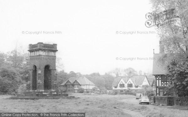 Photo of Worsley, Memorial Fountain, The Green c.1965