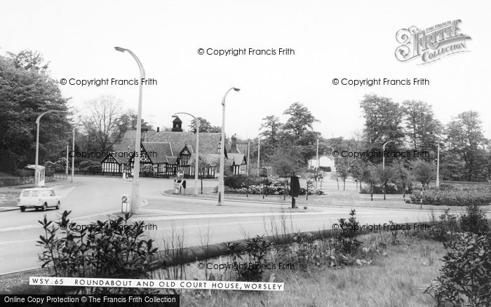 Photo of Worsley, Roundabout And Old Court House c.1965