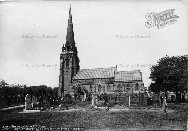 Photo of Worsley, St Mark's Church From The South Side 1889