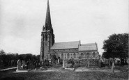 Worsley, St Mark's Church from the south side 1889