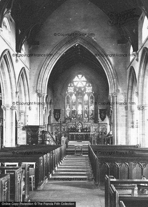 Photo of Worsley, St Mark's Church Interior 1889