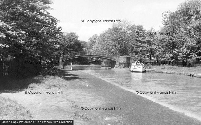 Photo of Worsley, The Humpbacked Bridge c.1955