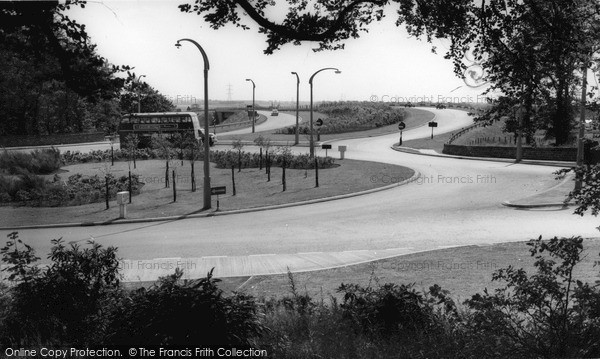 Photo of Worsley, The Roundabout And Motorway c.1960