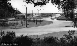 Worsley, The Roundabout And Motorway c.1960