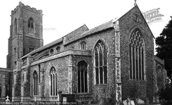 Photo of Worstead, St Mary's Church c.1955