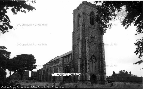 Photo of Worstead, St Mary's Church c.1955
