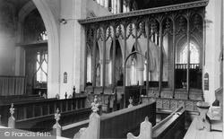 St Mary's Church, Interior c.1955, Worstead