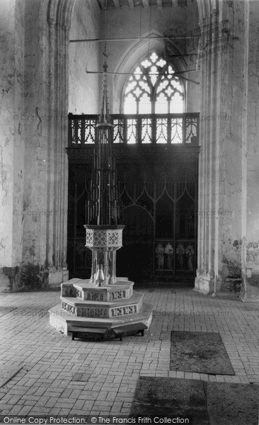 Photo of Worstead, St Mary's Church, The Font c.1955