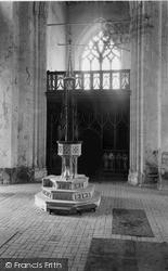 St Mary's Church, The Font c.1955, Worstead