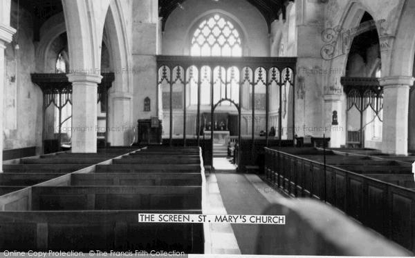 Photo of Worstead, St Mary's Church, The Screen c.1955