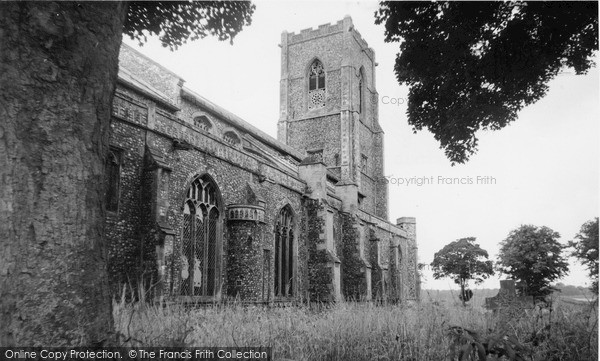 Photo of Worstead, The Clock, St Mary's Church c.1955