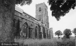 The Clock, St Mary's Church c.1955, Worstead