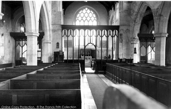 Photo of Worstead, The Screen, St Mary's Church c.1955