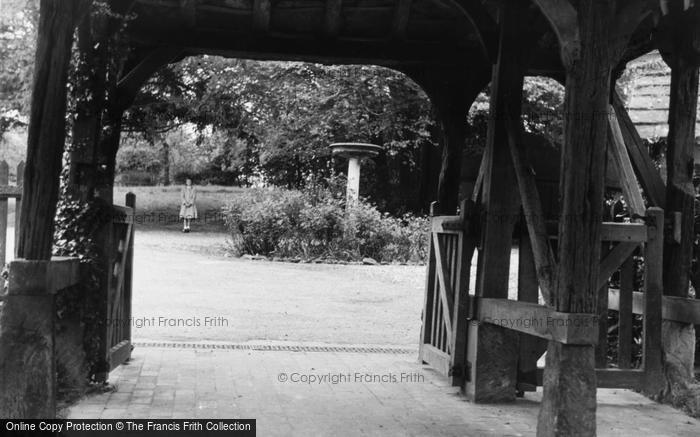 Photo of Worth, Peep Through Lychgate c.1955