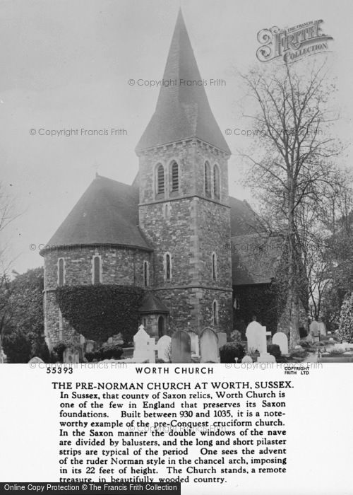 Photo of Worth, St Nicholas' Church 1906