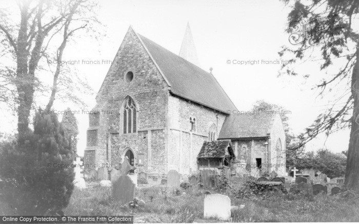 Photo of Worth, St Nicholas' Church c.1955