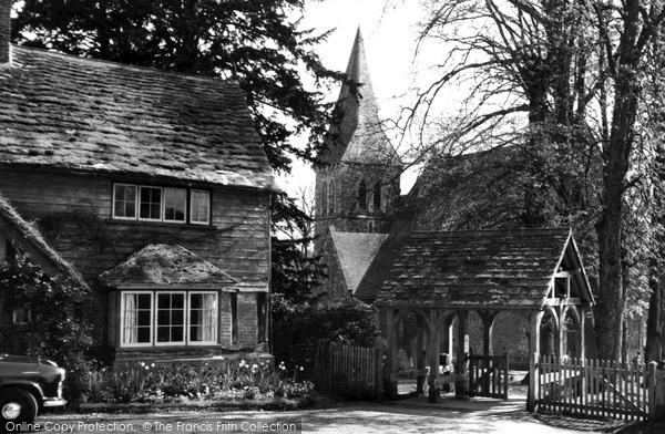 Photo of Worth, St Nicholas' Church c1960