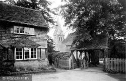 Worth, St Nicholas's Church And The Lychgate c.1955