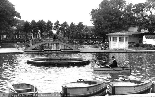 Photo of Worthing, Boating Lake c.1955