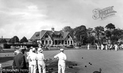 Bowling Green And Pavilion, Beach Park c.1955, Worthing