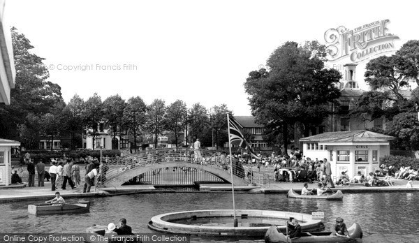 Photo of Worthing, Children's Boating Pool c.1955