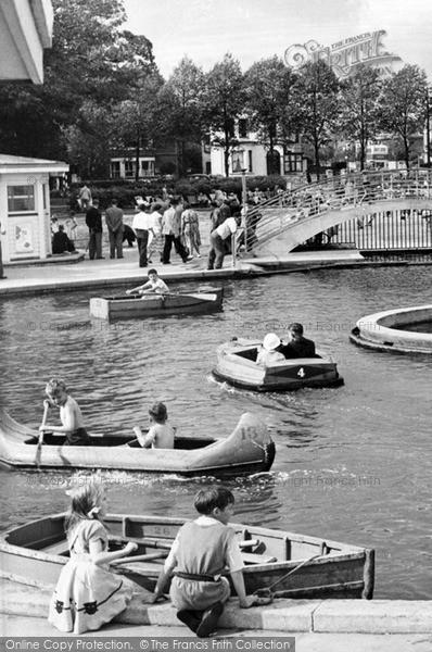 Photo of Worthing, Children's Boating Pool c.1955