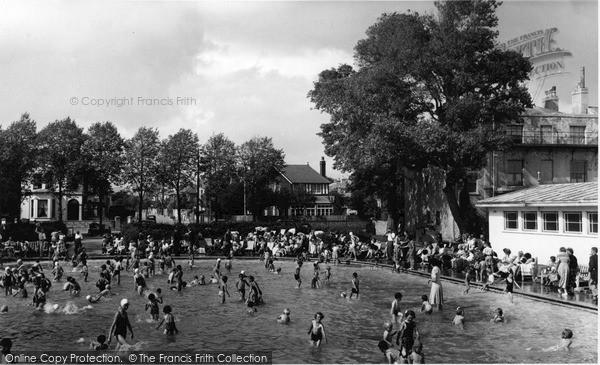 Photo of Worthing, Children's Paddling Pool c.1955