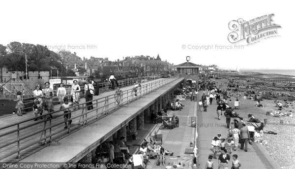 Photo of Worthing, East Beach Chalets c.1955