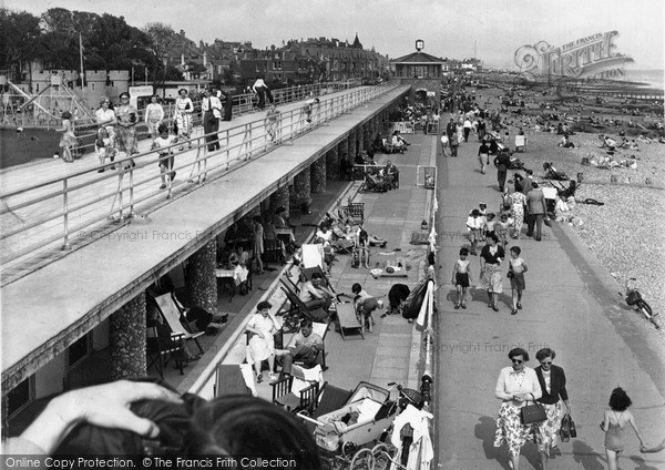 Photo of Worthing, East Beach Chalets c1955