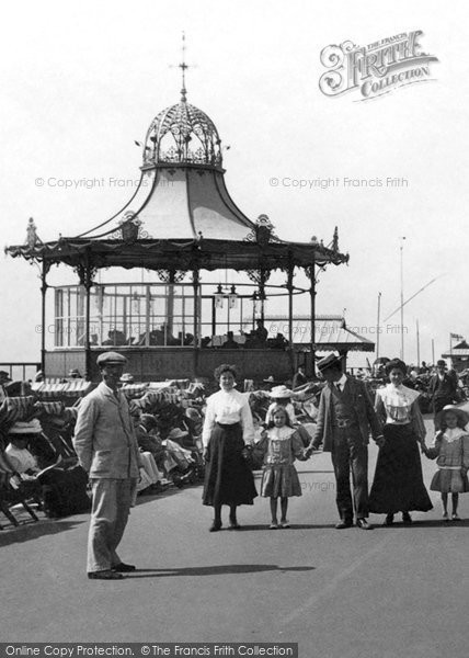 Photo of Worthing, Esplanade, The Bandstand 1906