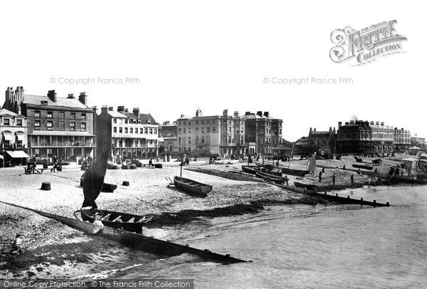 Photo of Worthing, Marine Parade 1890