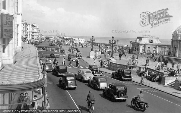 Photo of Worthing, Marine Parade 1954