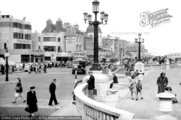 Photo of Worthing, Marine Parade c1955