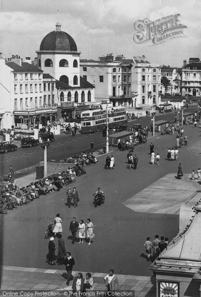 Photo of Worthing, Marine Parade c.1955