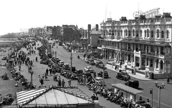 Photo of Worthing, Marine Parade Looking West c.1955