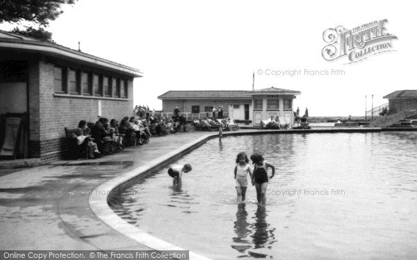Photo of Worthing, Paddling Pool c.1955