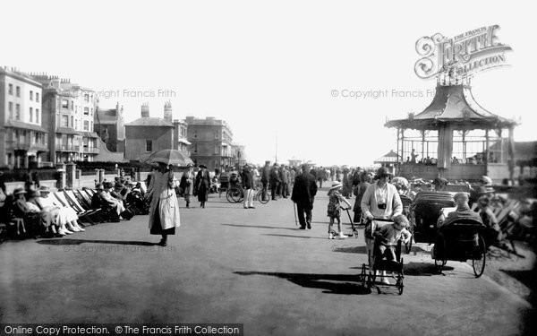 Photo of Worthing, Parade And Bandstand 1921