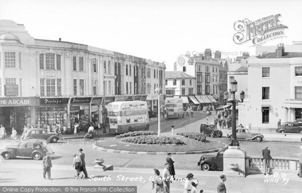 Photo of Worthing, South Street c.1955