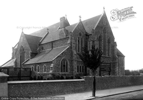 Photo of Worthing, St Andrew's Church 1890