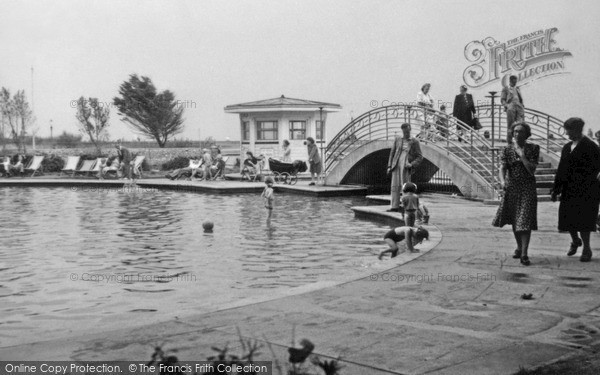 Photo of Worthing, Swimming Pool c.1955