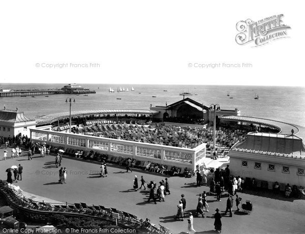 Photo of Worthing, The Band Enclosure And Pier 1925