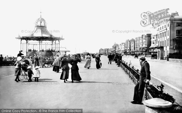 Photo of Worthing, The Bandstand And Parade 1899