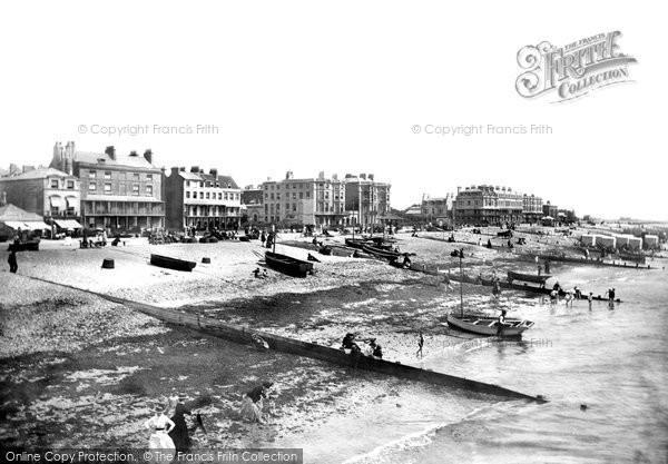 Photo of Worthing, The Beach 1890
