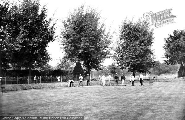 Photo of Worthing, The Bowling Green In The Park 1906