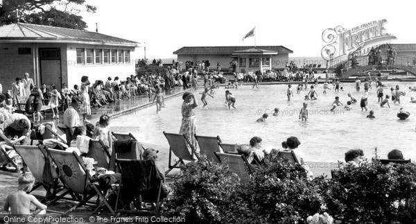 Photo of Worthing, The Paddling Pool c.1955