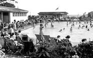 Worthing, the Paddling Pool c1955