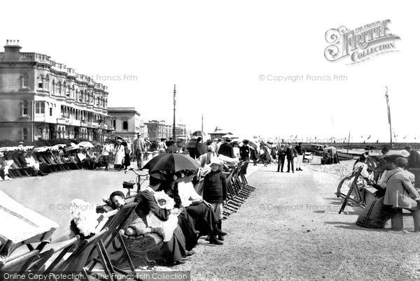 Photo of Worthing, Western Esplanade And The Beach 1906